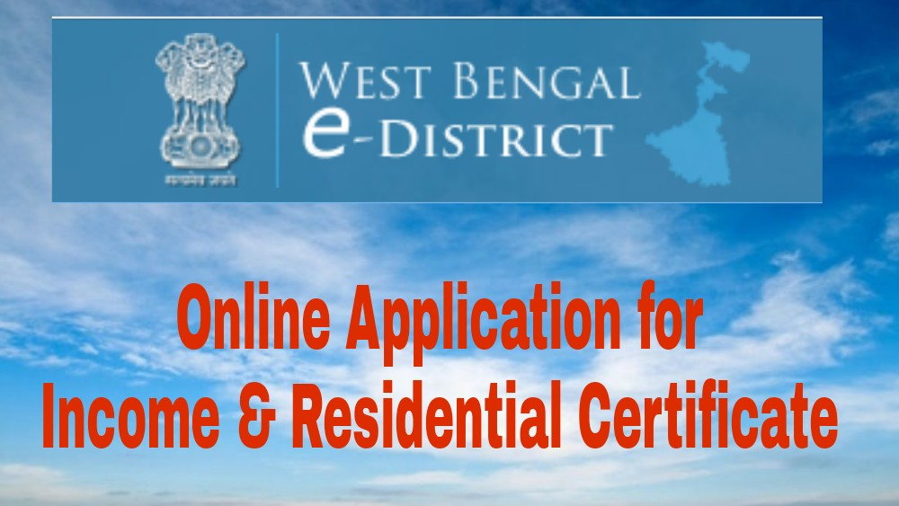 BDO Income Certificate Online Application - Domicile Certificate WB e-District