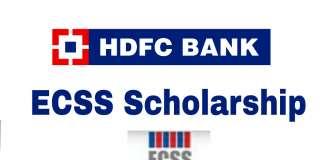 HDFC ECSS Scholarship