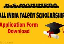 KC Mahindra Talent Scholarship