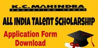 KC Mahindra Talent Scholarship