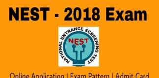 NISER NEST 2018 Exam