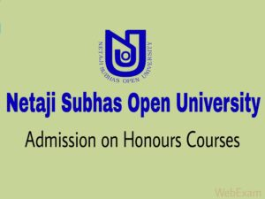 Netaji Subhas Open University Admission