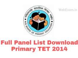 Primary TET Panel List