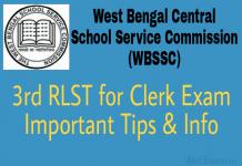WBSSC Group C exam Tips 3rd RLST