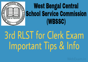 WBSSC Group C exam Tips 3rd RLST