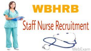 west bengal staff nurse recruitment wbhrb