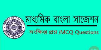 Madhyamik Bengali Short questions and MCQ Test