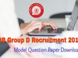 RRB Group D Model Question Paper