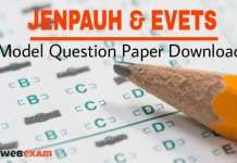 JENPAUH and EVETS Question Paper Download