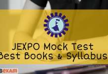 JEXPO Online Mock Test Syllabus Books