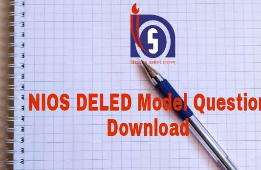 NIOS DELED Model Question Paper Download