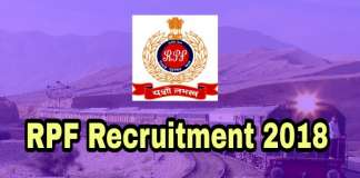 Railway RPF Recruitment 2018
