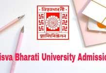 Visva Bharati University Admission