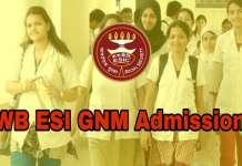 WB ESI GNM Nursing Admission