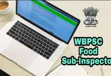 WBPSC Food Sub Inspector Exam