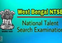 WB NTSE Scholarship