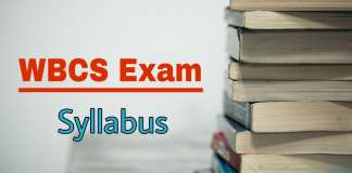 WBCS Syllabus Download