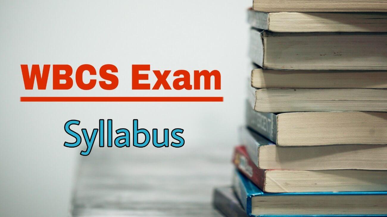 WBCS Syllabus Download
