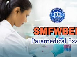 SMFWBEE 2019 Paramedical Entrance Exam