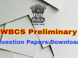 WBCS Previous 10 Years Question Papers
