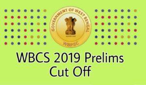 WBCS 2019 Cut Off Marks Preliminary Exam Result