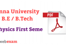 Anna University Physics Question