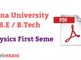 Anna University Physics Question