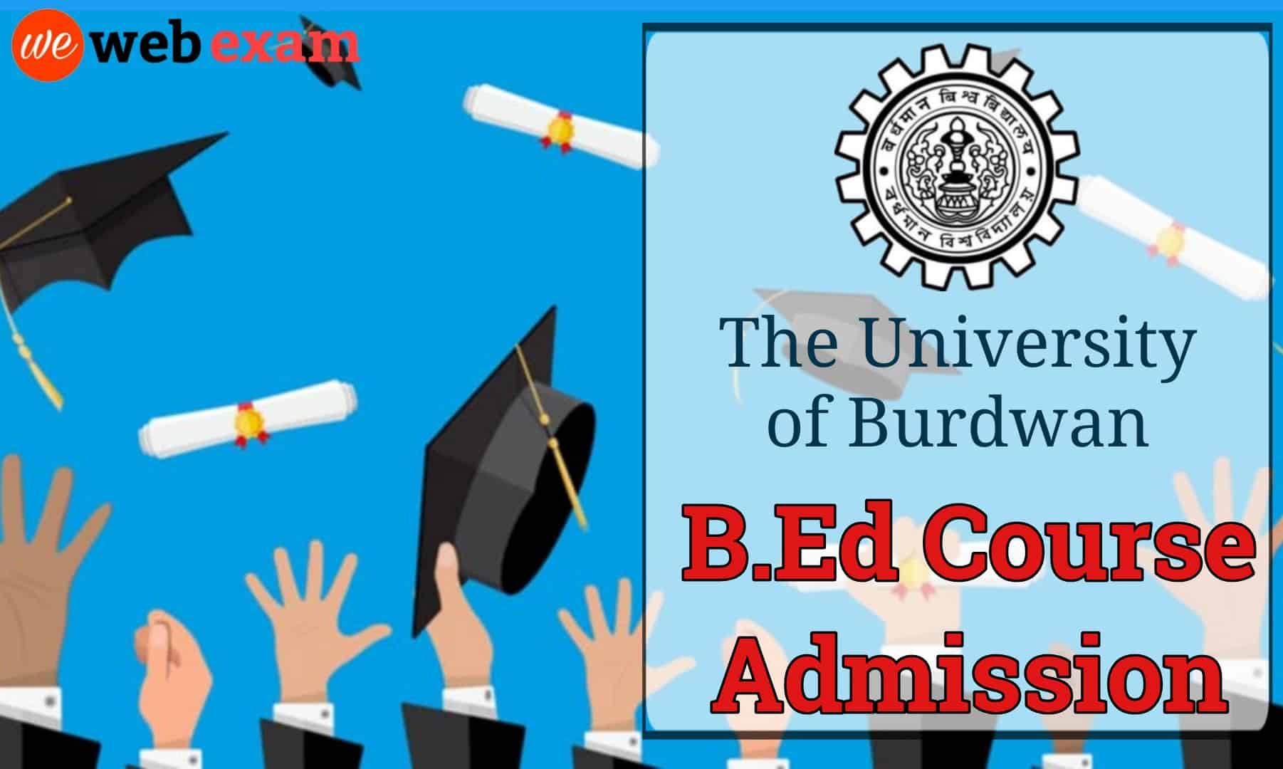 Burdwan University B.Ed Admission