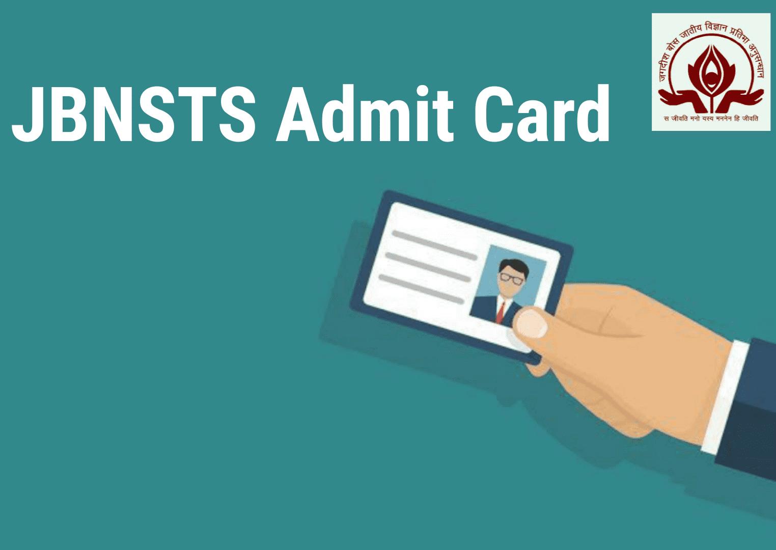 JBNSTS Admit Card