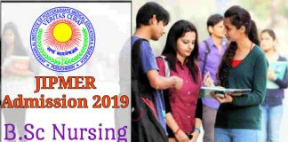 JIPMER Nursing 2019 Online Application