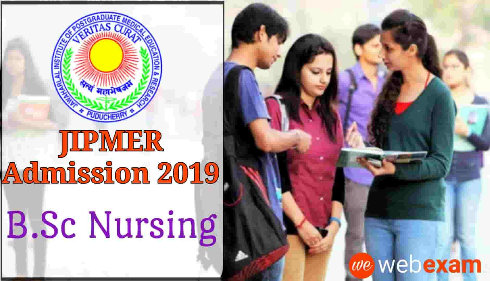 JIPMER Nursing 2019 Online Application