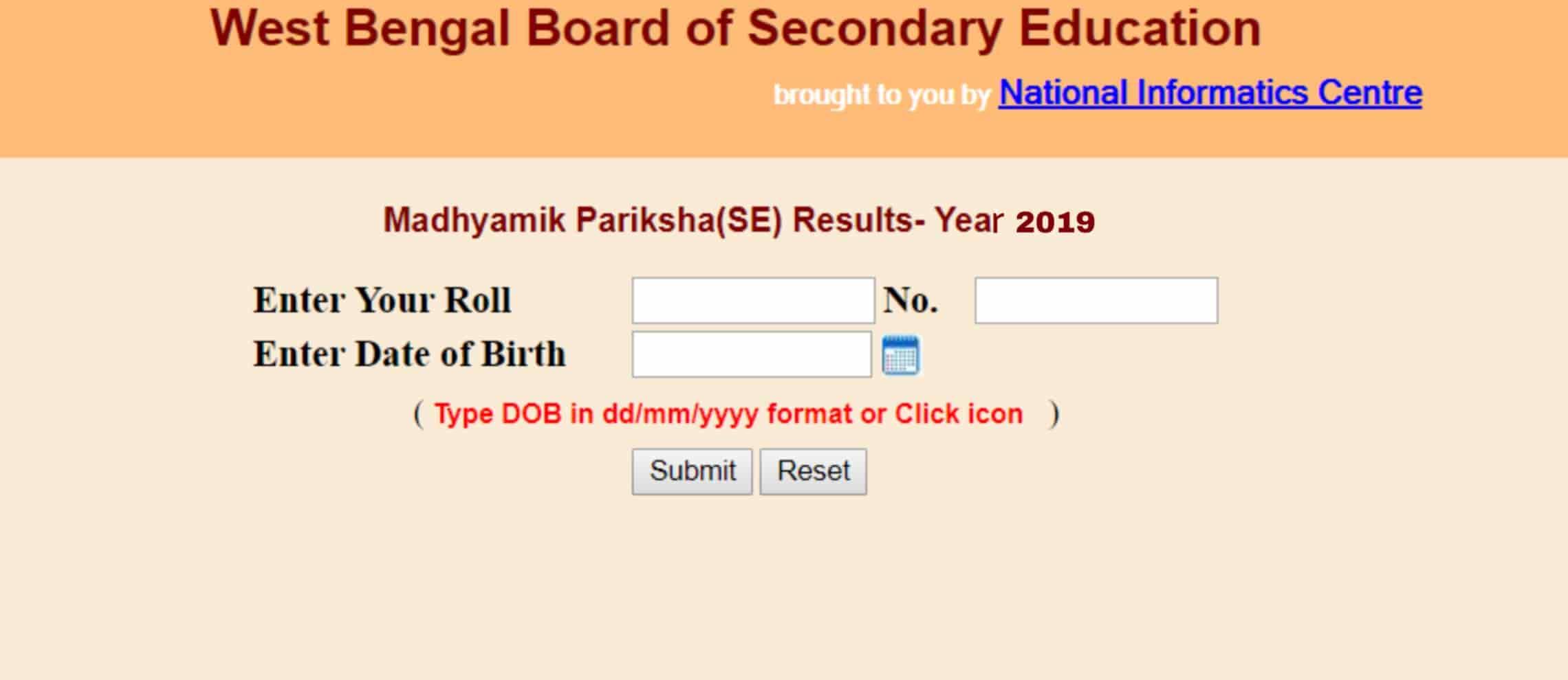 WB Madhyamik result 2019 online check.