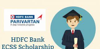 HDFC scholarship 2019 ECSS