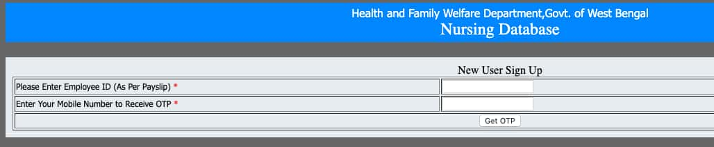 WB Nursing Database sign up
