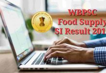 WBPSC Food Supply SI Result 2019