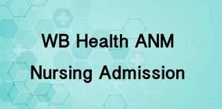 WB ANM Nursing Admission 2019