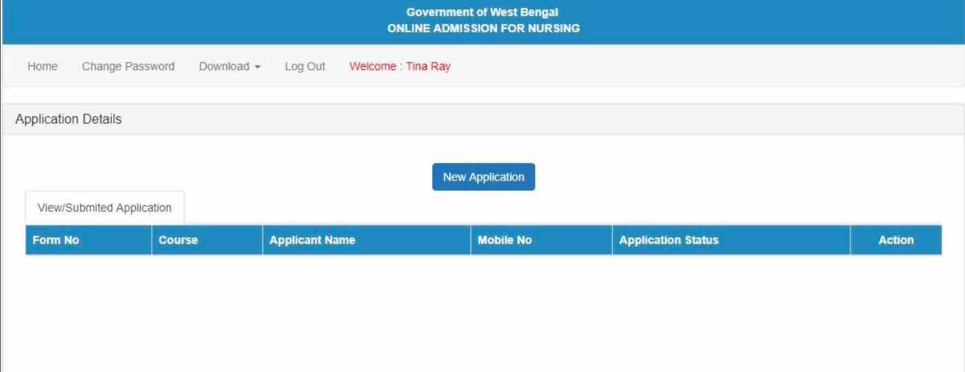 wb health nursing application