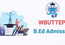 WBUTTEPA B.Ed Admission 2019
