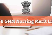 Wb GNM Merit List 2019 Counselling