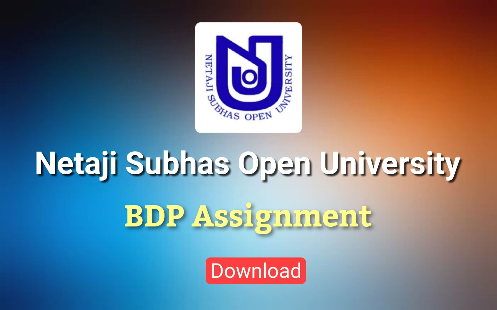 NSOU BDP Assignment Download