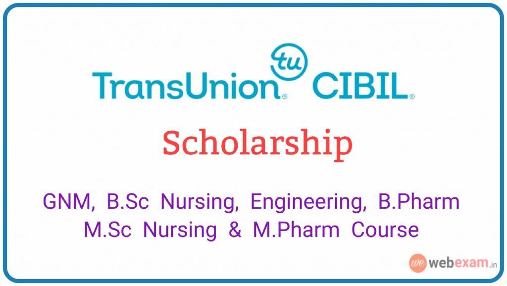 TransUnion CIBIL Scholarship 2019