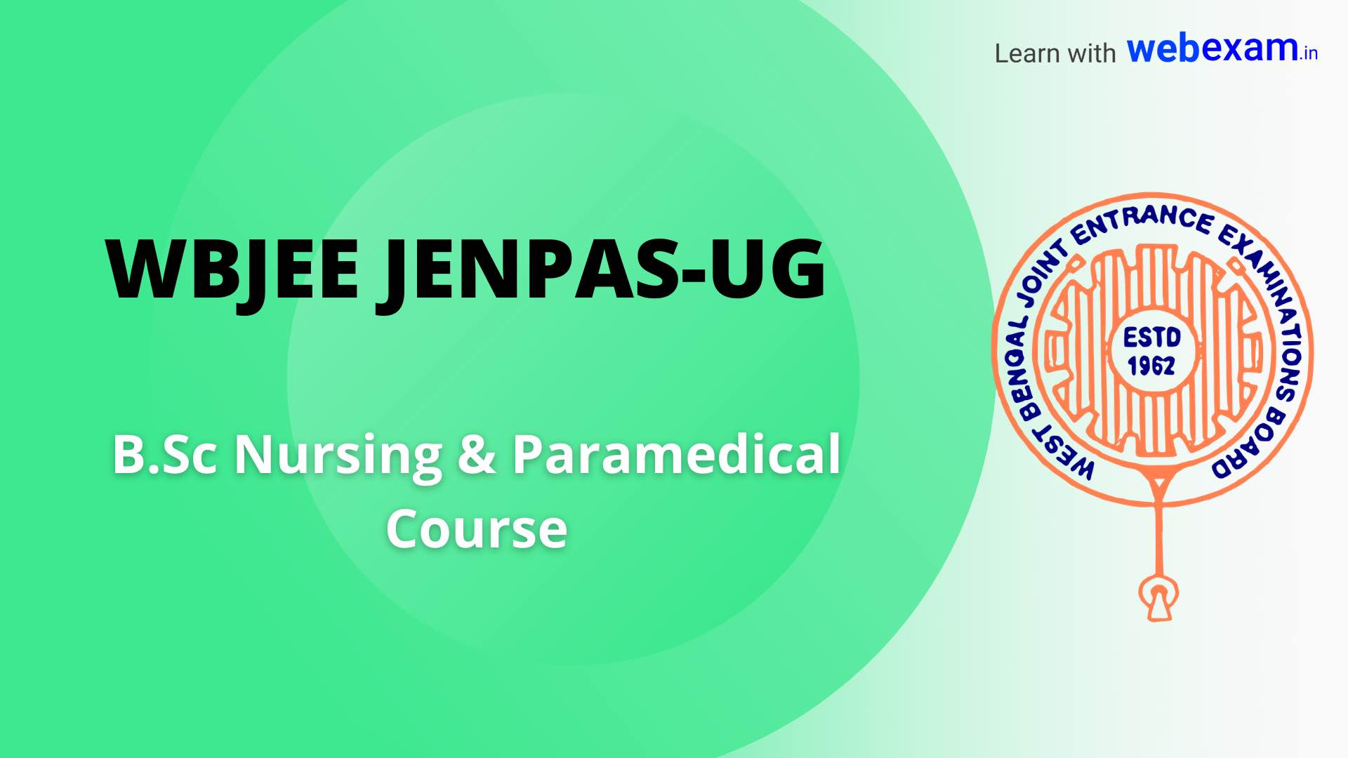 WBJEE JENPAS-UG Online Application