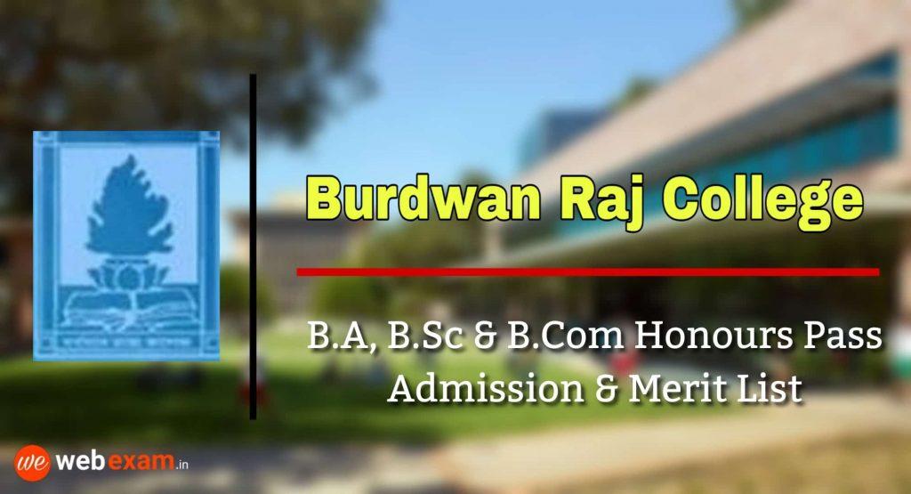Burdwan Raj College Admission