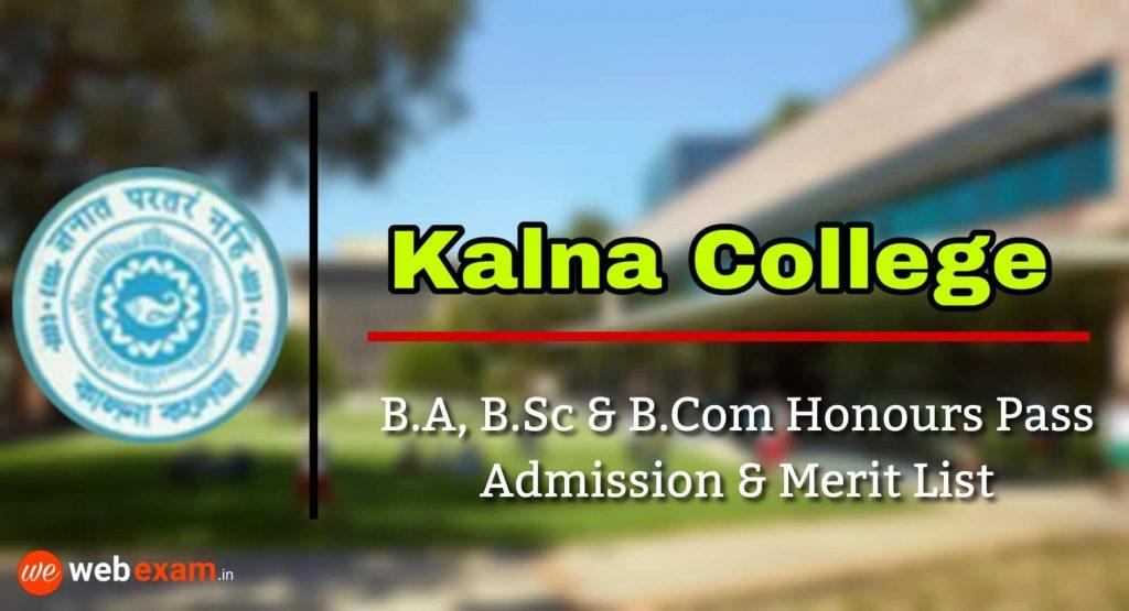 Kalna College Admission & Merit List Download