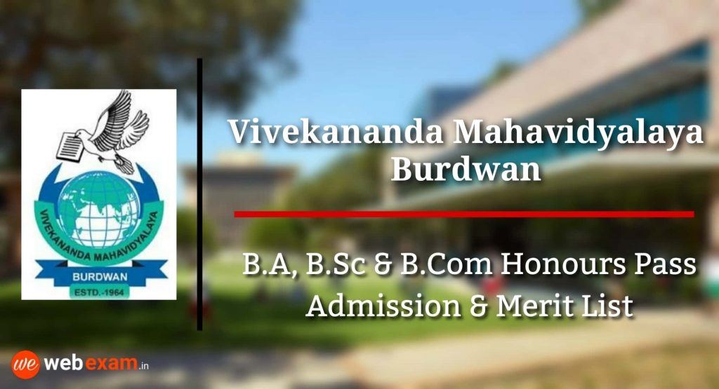 Vivekananda Mahavidyalaya Admission Burdwan