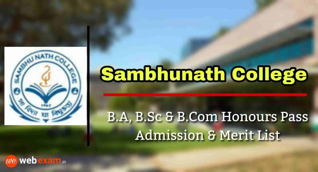 Sambhu nath College Admission