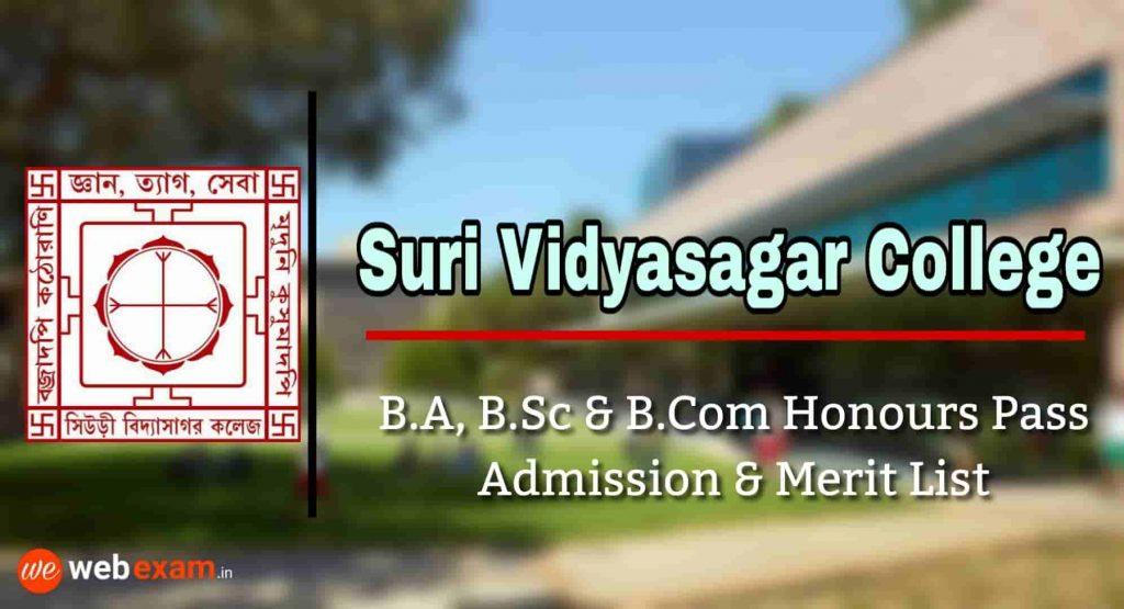 Suri Vidyasagar College Admission