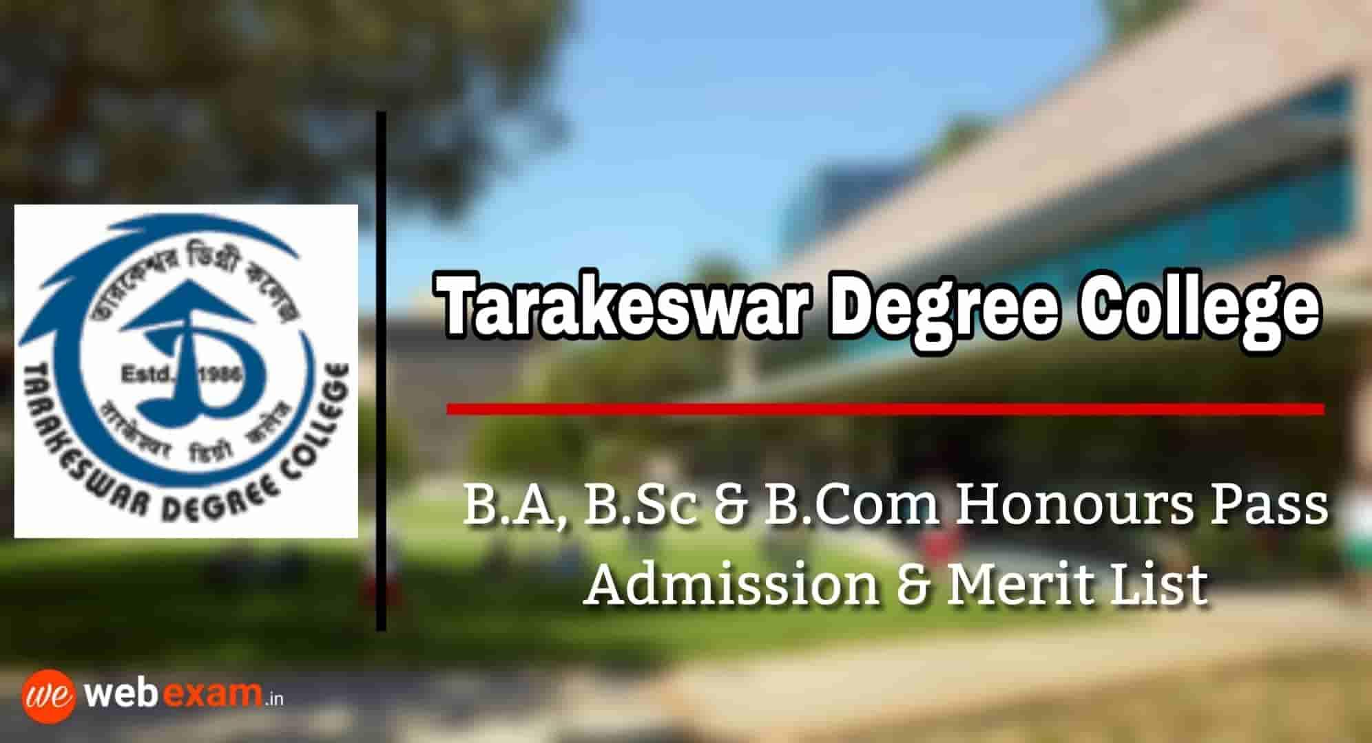 Tarakeswar Degree College Admission