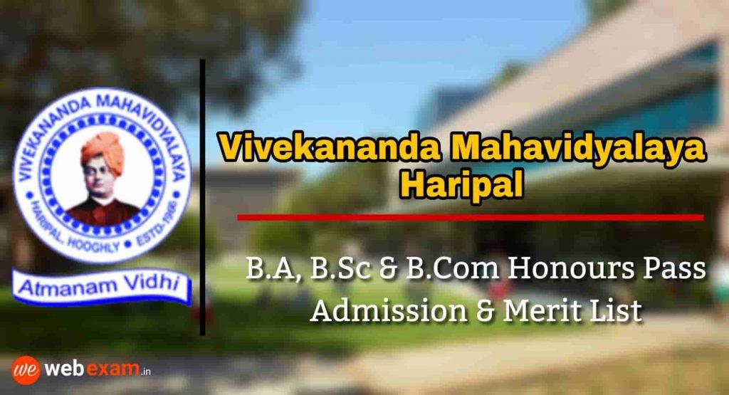 Vivekananda Mahavidyalaya Haripal Admission