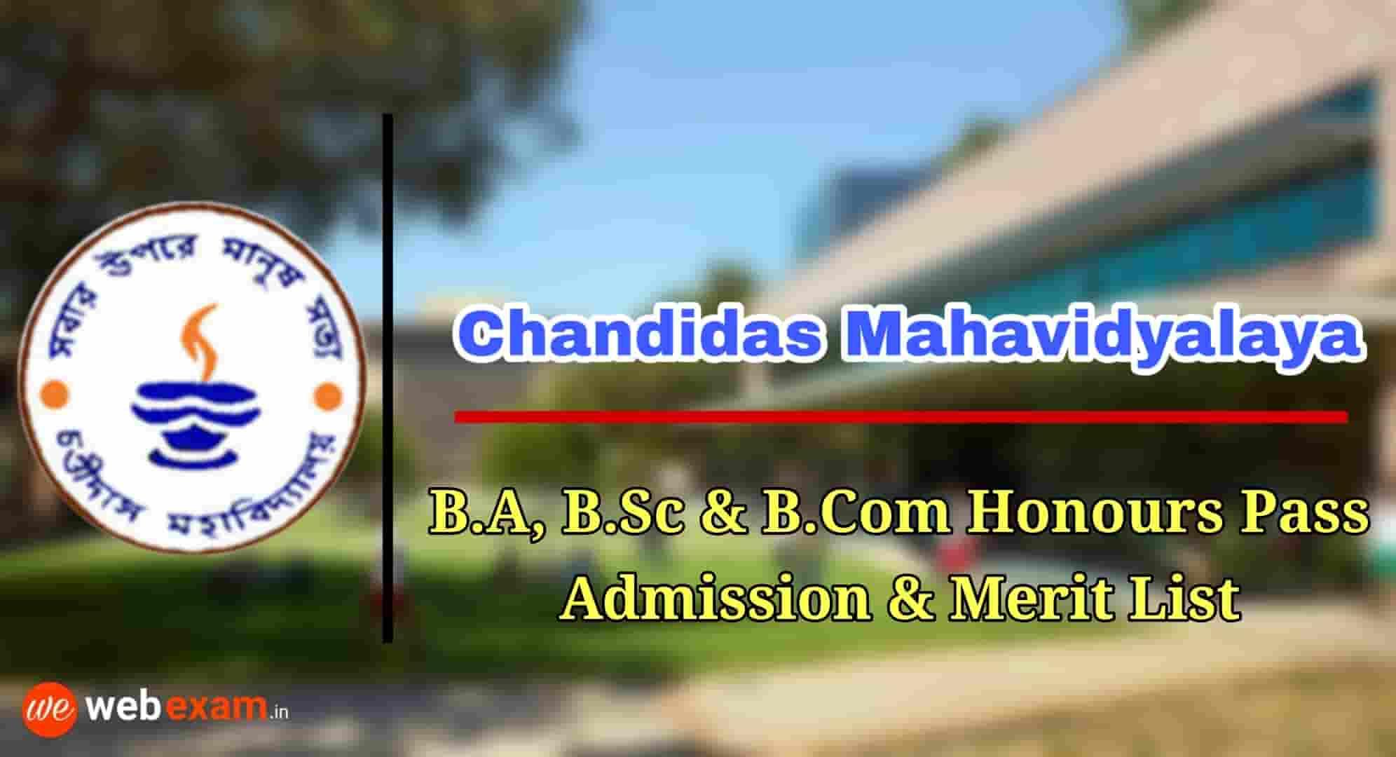 Chandidas Mahavidyalaya Admission